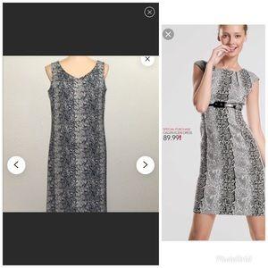 Celebrity inspired snake skin print dress.